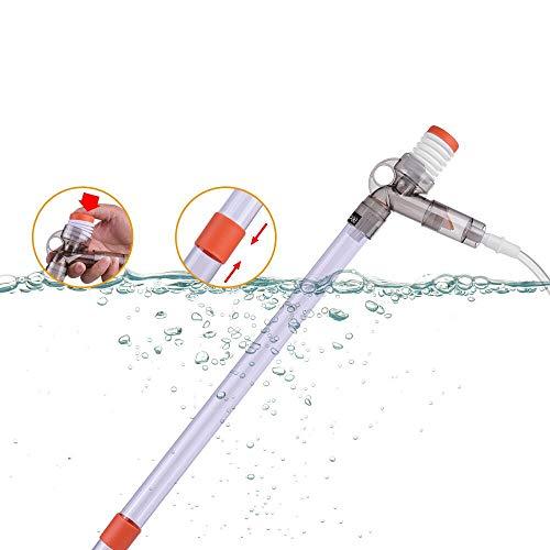 DADYPET Multifunzionale Air-Pressing scambiatore Acqua Acquario Ghiaia Sabbia pulitore per Acqua Cambia Sand Lavaggio Excrement-Absorbing