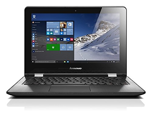 Lenovo Yoga 300 29,46cm (11,6 Zoll HD Glare) Convertible Notebook (Intel Celeron N3060, 2,48GHz, 4GB RAM, 32GB eMMC, Intel HD Grafik 400, Touchscreen, Windows 10 Home) schwarz