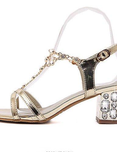 LFNLYX Chaussures Femme-Habillé-Or-Gros Talon-Talons / A Plateau / Bout Ouvert-Sandales-Synthétique golden