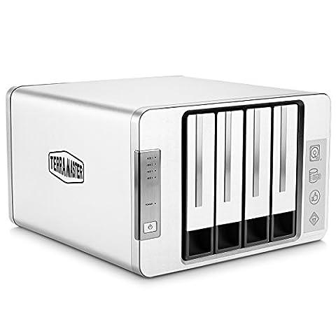 TerraMaster D4-310 USB3.0 Type C Externe Festplattengehäuse 4 bay Aluminum RAID Gehäuse Doppelt RAIDs Vier-Modus mit 2 USB3.0 HUBs