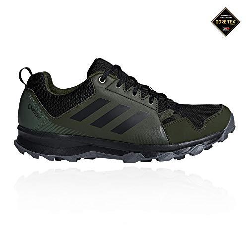adidas Herren Terrex Tracerocker GTX Traillaufschuhe, Grün (Verbas/Negbás/Carnoc 000), 42 2/3 EU