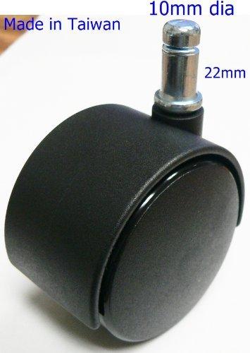 Oajen 5,1cm Stuhl Lenkrad für Ikea Stuhl, 5Stück, 10mm Durchmesser Schaft.