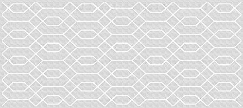 VINILIKO, Alfombra de vinilo, Hexágono, Gris, 66x150 cm