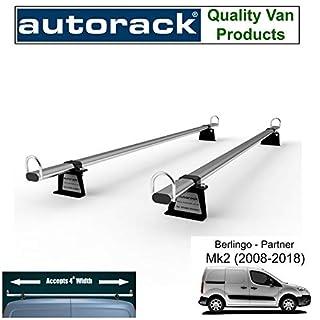 Autorack WorkReady Van Roof Rack Bars for - PEUGEOT PARTNER (2009-to-2018 Mk2 Range) - 2 BARS