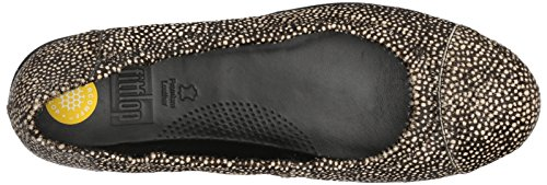 FitFlop Damen F-Pop Ballerina Ballerinas Mehrfarbig (Black Mix)