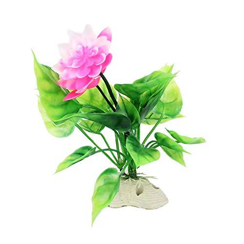F.lashes 3 pcs Kunstblumen Wasserpflanze Künstliche Lotus Plastik Blumen Lebensechte mit Grünen...