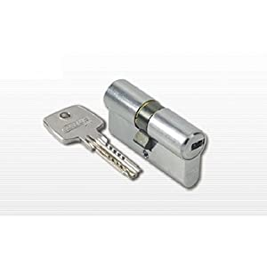 ABUS D10 _ mm 30/40 _ C/B – eurocilindro with Double Clutch Key of points Brass Matt 5 K and T Blister SKG