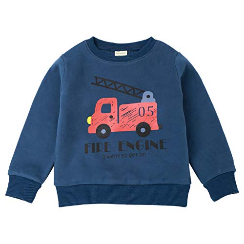 Yanhoo Unisex Kinder Baby Weihnachten Cartoon Auto Drucken Pullover Top Warme Rundhals Ausschnitt Langarm Pulli Print Insulated Sweatshirt Langarmshirt Tops Oberteile 18Monate ~6Jahre