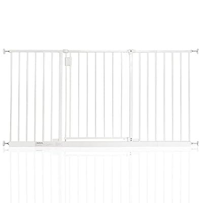 Safetots Extra Wide Hallway Pet Gate 97cm - 153cm (140.4cm - 146.4cm, White)