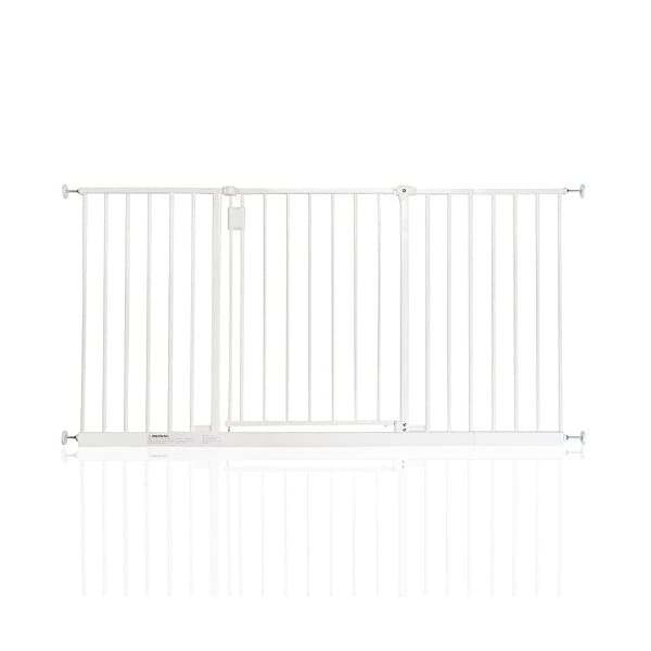 Safetots Extra Wide Hallway Gate White 140cm - 146cm Safetots Pressure fitted Height: 73cm Gate fits standard width: 97cm - 103cm 1
