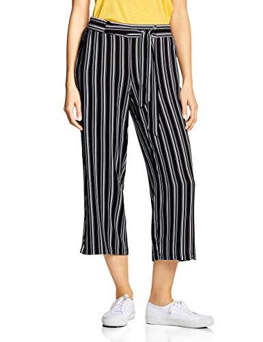 Hose Jeans Wide Leg Jeans (Street One Damen 372253 Hose, Black, W/L26(Herstellergröße:36))