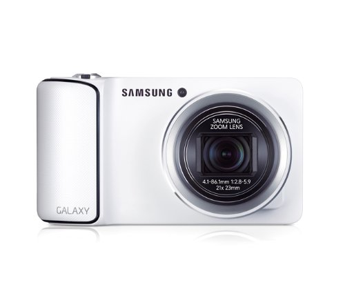 Samsung Galaxy Kamera (16 Megapixel, 21-fach opt. Zoom, 12,2 cm (4,8 Zoll) Touchscreen, Quad-Core, 1,4GHz, NUR WiFi, Android 4.1) weiß