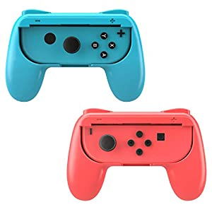 MoKo Grip for Nintendo Switch Joy-Con, 2-Pack Switch Controller Grip Handle Kit for Nintendo Switch Joy-Con ( Red and Blue )
