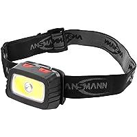 ANSMANN LED Stirnlampe HD200B inkl. Batterien - Profi LED Arbeitsleuchte mit 185 Lumen - Kopflampe LED ideal zum Radfahren Laufen mit Hund Joggen Angeln Jagd Klettern Werkstatt Fahrrad Licht Lauflicht