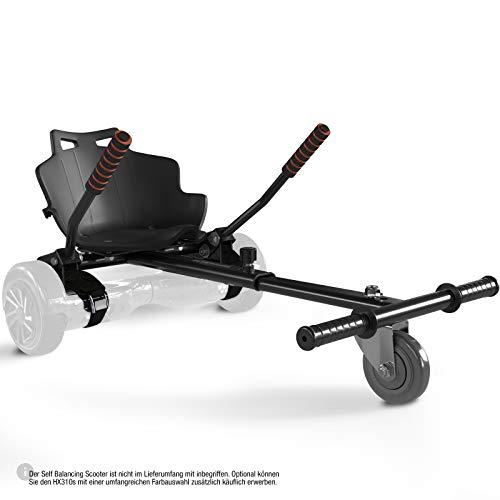 Bluewheel Sitzscooter HK200 Kart Sitz Erweiterung für 6, 5-10 Zoll Self Balance Scooter, Hover, E-Kart, Kart ,Elektro Go-Kart, Sitzaufsatz, Schalensitz & Umbausatz, anpassbarer Stahl-Rahmen