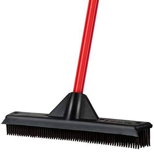 Tyroler bright tools scopa in gomma impermeabile / tergipavimento 33 cm - setole in gomma- perfetta per peli capelli - per esterni ed interni - per tappeti, parquet, pavimenti, finestre