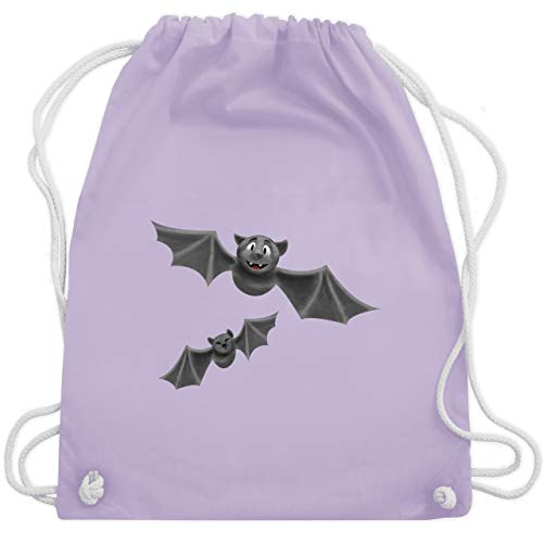 Halloween - süße Fledermäuse - Unisize - Pastell Lila - WM110 - Turnbeutel & Gym Bag