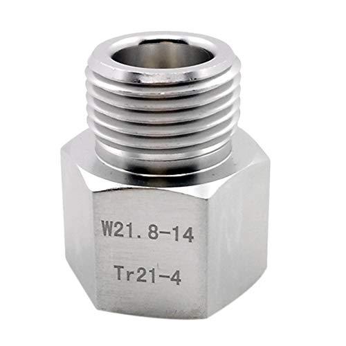 TOOGOO Cylinder Adapter Converter für W21.8 Aquarienfische oder Homebrew Bier Corny Keg Co2 Tank Atemregler -