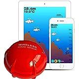 YHONG-FishFinder Wireless Tragbarer FischFinder,Tragbarer GPS Funkfunktionsdetektor für Grundfischerei und Schwimmerkartierung von Sonar Fischdetektoren