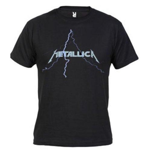 Camiseta Metallica Rayo (Diseño mxgames.es) (Talla: Talla L...