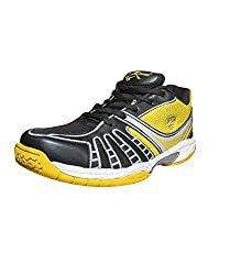 Zigaro Mens Badminton Shoes (11, BLACK)