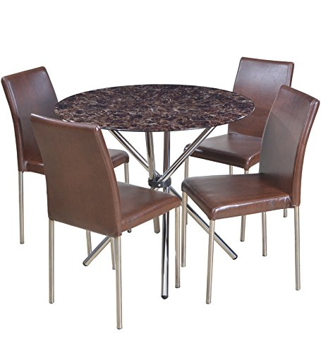 HomeTown Corral Four Seater Dining Table Set (Brown)