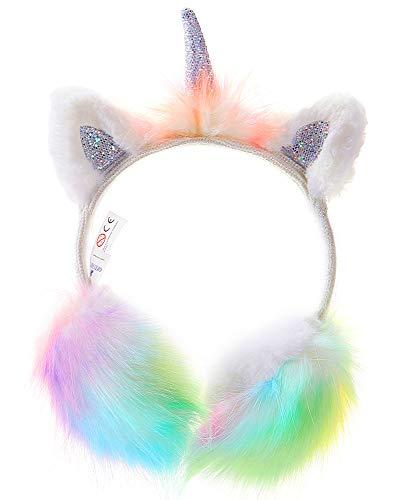 Orejeras para Nniñas Orejeras en Diseño de Unicornio de Felpa