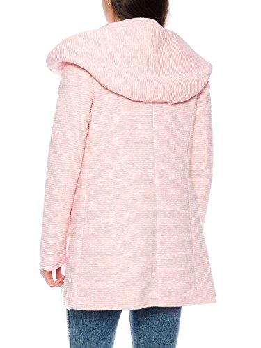 ONLY Damen-Woll-Mantel onlSedona Link Coat 15144772 Kurz-Mantel Übergang-Jacke, Größe:XS, Farbe:Rosa - 3