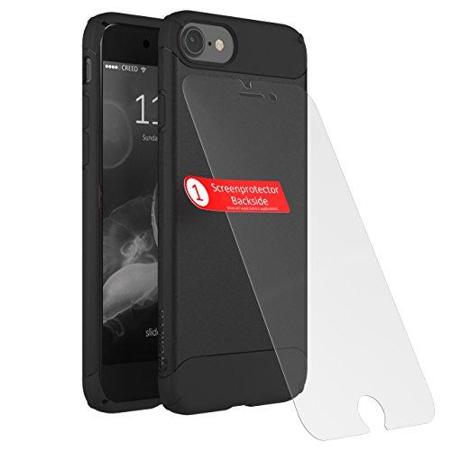 CREED iPhone 7 Nimbus TWIN GLASS EDITION aus deutschem Xensation Premium Glas by SCHOTT AG (inkl. Panzer-Glas)Schutzhülle für iPhone 7 Hülle - Schutzhuelle, iPhone 7, iPhone 7 Case - Dual-Layer Schutz Black