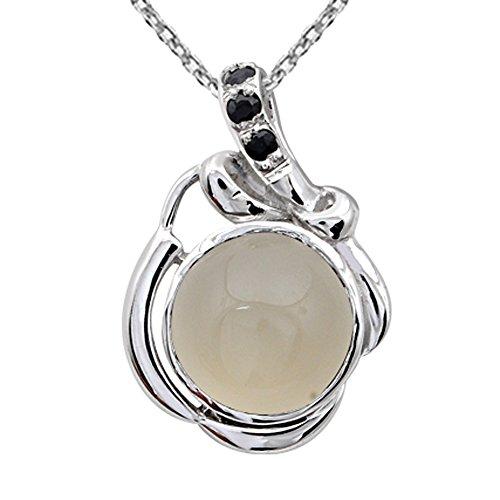 Orchid Jewelry Anhänger Mondstein Saphir - Ring, Charms Halskette, Geburtsstein