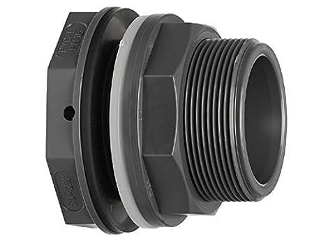 """Traversée de paroi en PVC pour tuyau Diamètre 32 mm ou filetage 1 1/4"""" - jardiboutique"""