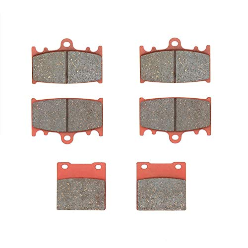 MEXITAL Pastiglie freno Ceramica organico Anteriori + Posteriore per ZXR 400 (89-90)/ZXR 400 R ZX400 (91-94)/ZXR 750 ZX750 Ninja ZX-7 ZX-7R (89-95)/ZZR 1100 ZX1100 (93-01)/ZZR 1200 (ZX 1200 C) (02-04)