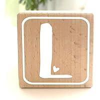 Holzwürfel mit Buchstabe L