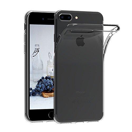 iPhone 7 Plus 8 Plus Hülle, CaseLover Ultradünne Mode Transparente Weiches TPU Handyhülle Silikonhülle für Apple iPhone 8 Plus 7 Plus 5,5 Zoll Flexible Transparenter Weicher Telefonkasten Abdeckung Handy Zubehör Schutzhülle Anti Scratch Bumper Stoßfest Fall