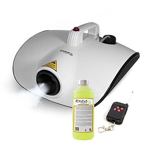 ga Smoke Ibiza Light LSM 1000Watt bis Diffusion Continue + Fernbedienung + Flüssigkeit (1000w Nebelmaschine)