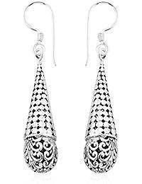 Royal Sterling Silver Hook Earrings, Silver wt 6.86 Gms