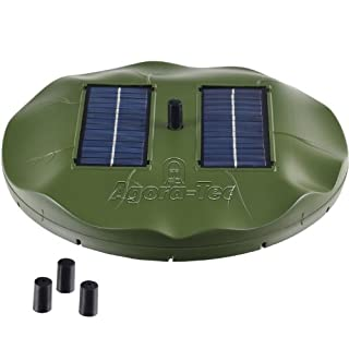 Agora-Tec 1.8W solar pond pump water lily 1.8 Watt Hmax .: 155l / h fontaine height: 0.50m for garden pond or fountain