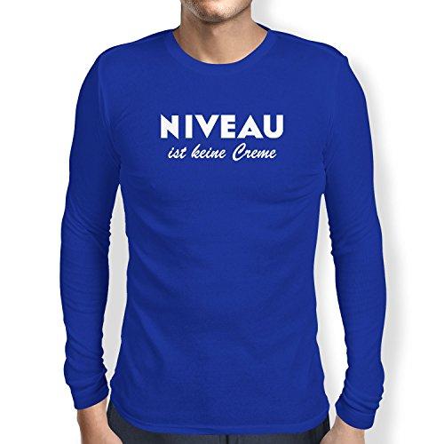 TEXLAB - Niveau ist keine Creme - Herren Langarm T-Shirt, Größe M, marine (Marine-freundin-t-shirt)