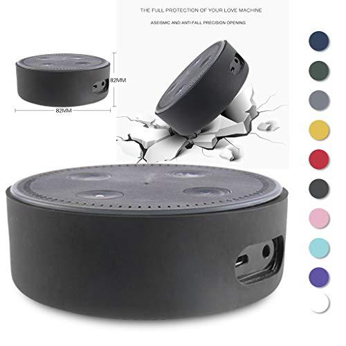 Colorful Für Echo Dot 2. Generation Hülle, Alexa Protective Case, Echo Dot Case, Amazon Echo Dot-Hülle,Silikon Schutzhülle für Amazon Echo Dot 2. (Schwarz)