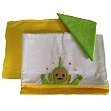 Babykleidung Kinderbett Teletubbies grün Dipsy Set Bett Bettlaken + Kissenbezug