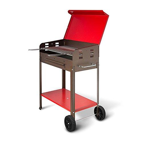 Artigian Ferro 501.b Barbecue à Charbon Complet de Grille pour la Cuisson, Noir
