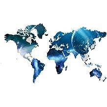 Papel pintado Planeta Mapa del Mundo Pegatinas de Pared de Vinilo Decoración del hogar extraíble Mural DIY Decor