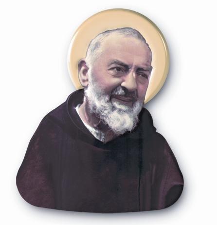 Plaque Padre Pio Padre Pio Rosenkranz. St. Padre Pio (Pius) von Pietrelcina. Magnetisch 7cms x 6cms. Saint Pio. Padre Pio Statue. Padre Pio Joseph Joseph Pie