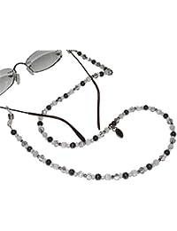 ARTEM Los® main chaîne de lunettes Femme en Acier Inoxydable et perles dans gris/blanc FkPK8