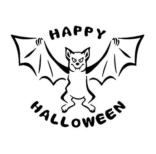 Autoaufkleber 16,7 cm * 12,7 cm Kreatives Design Von Happy Halloween Bat Baby Unfolded Flügel Hohe Qualität Vinyl Auto Aufkleber Aufkleber 2 stücke (Bat Halloween Design)