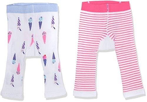 Joules Baby-Mädchen Strumpfhose Lively 2er Pack, Multicoloured (Ice Cream), S (Kreide-streifen-hose)