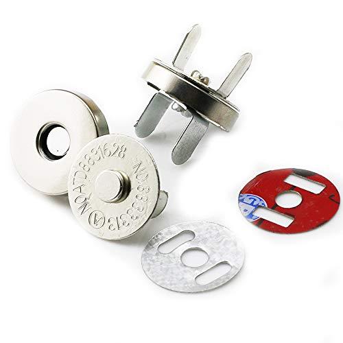 Vektenxi Magnetische Beutelverschlüsse Magnetische Druckknöpfe Knöpfe Metallknopfverschluss Nähen Handwerk Für Geldbörsen Handtasche Tasche 20 Stücke Splitter -