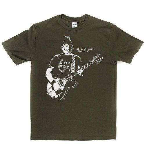 Elliott Smith T-shirt (militarygreen/white large)
