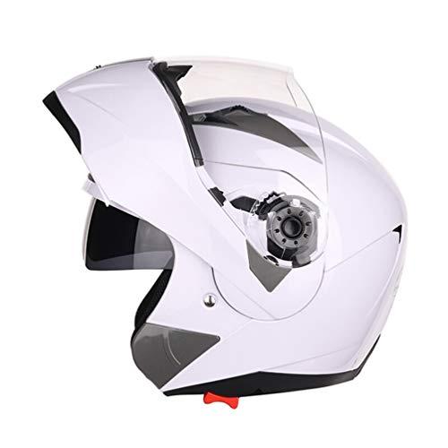 Qianliuk Moto Bike Motorrad-Helm Dual Lens Full Face Anti-Fog Helm Adult Universal Motorcross Helm (Helm-moto-symbol)