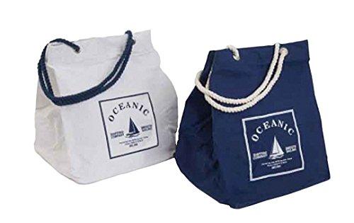 Nautisches Thema Wäschesack–Oceanic Style starkes Baumwolle Kleidung oder Spielzeug oder allgemeine Aufbewahrungstasche–Qualität Große Aufbewahrungstasche Wäschebox mit starrem Boden (Boden Nautische)